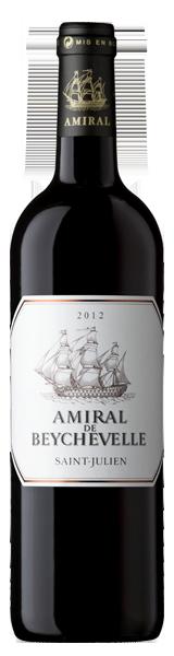 Amiral de Beychevelle 2012 - second vin de Chateau Beychevelle - Saint-Julien